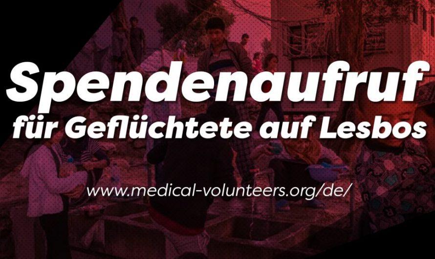 Spendenaufruf für Geflüchtete auf Lesbos