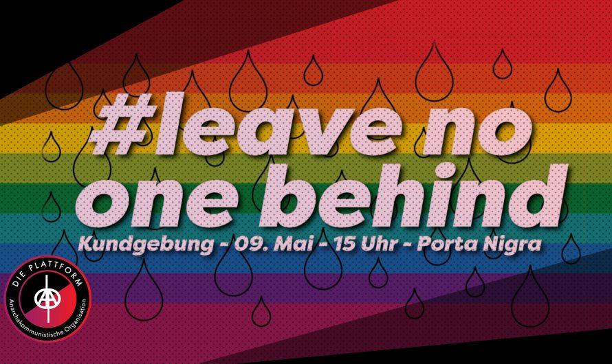#LeaveNooneBehind Kundgebung in Trier (Video)