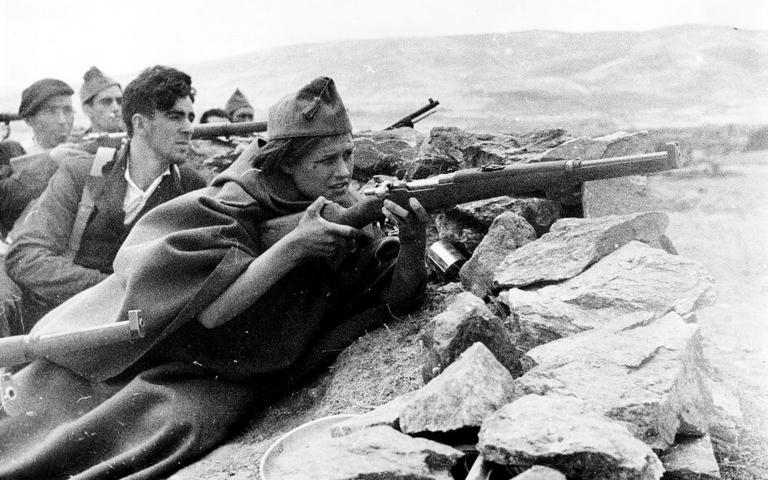 Anarchistische Milizionär*innen verteidigten die spanische Revolution gegen den Faschismus.