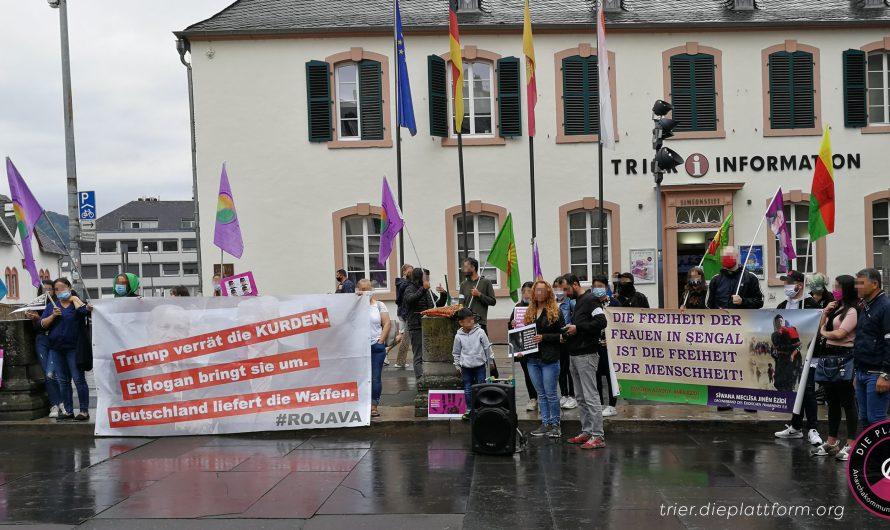 Gedenkkundgebung zum Völkermord an den Ezid*innen in Trier